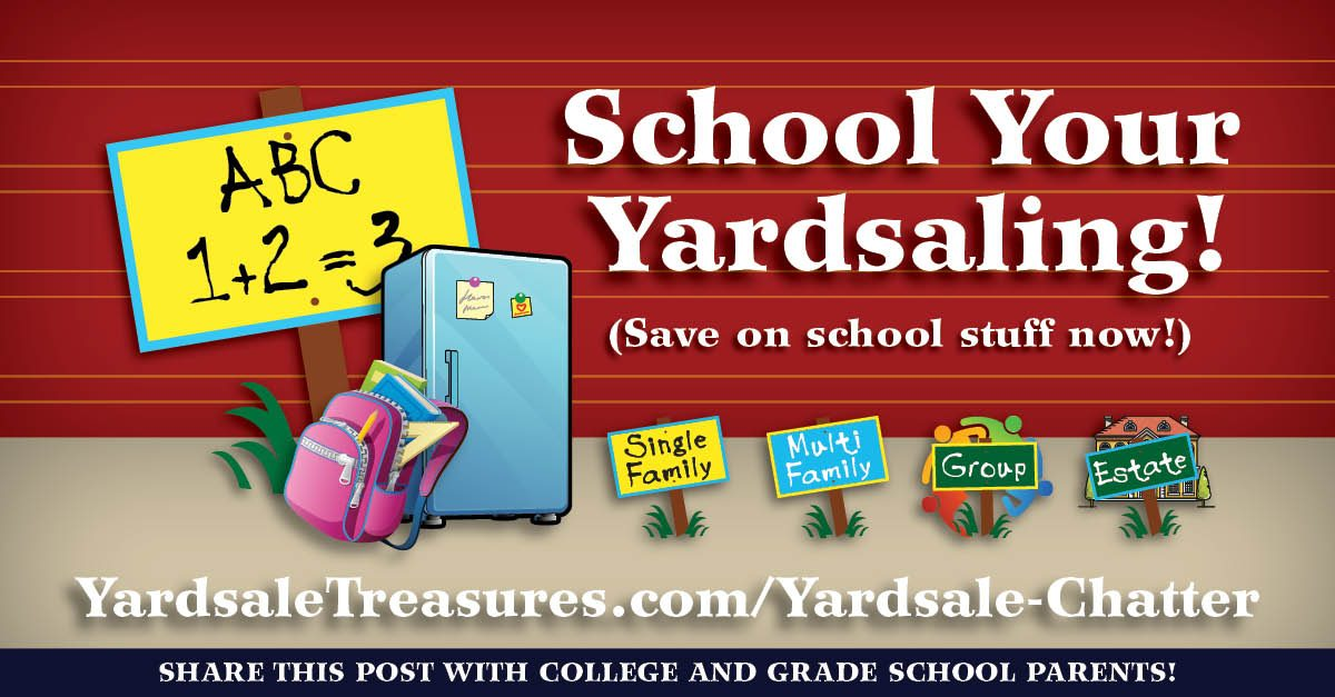 School Your Yardsaliong and Save Money on School Supplies!